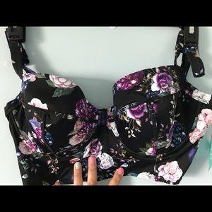 Torrid Vixen Swim Collection Floral Bikini Top